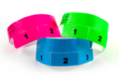 Vinyl Cash Tag 3 Tab Wristbands