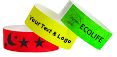 "1"" Tyvek Wristbands Solids"