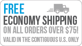 Free Economy Shipping On Orders over $75
