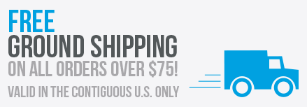 Free Ground Shipping On Orders over $75