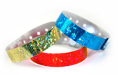 Plastic Holographic Wristbands