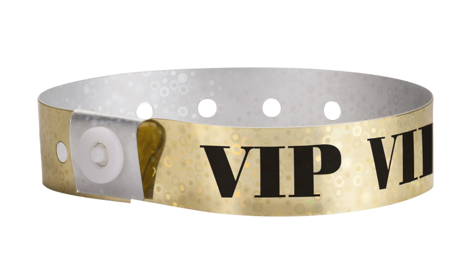 Plastic Holographic VIP (Gold) Wristbands