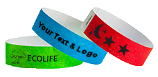 "3/4"" Tyvek Wristbands Solids"
