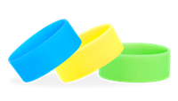 "1"" Silicone Solid Wristbands"