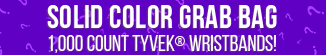 Solid Color Grab Bag 1000 ct Tyvek Wristbands